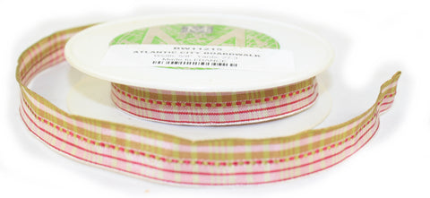 Boardwalk 5/8 Inch Wired Ribbon - By the yard