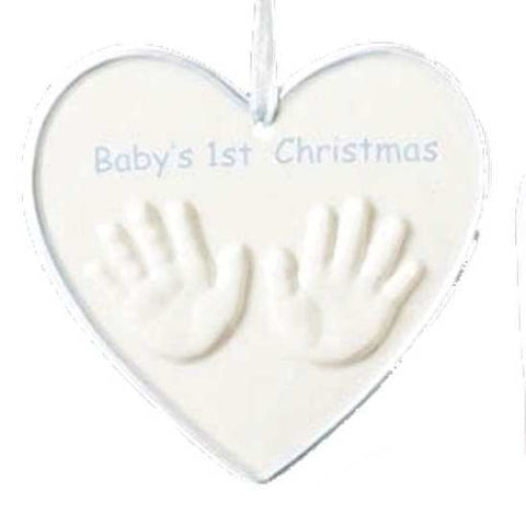 Hands in Heart Babies First Christmas -