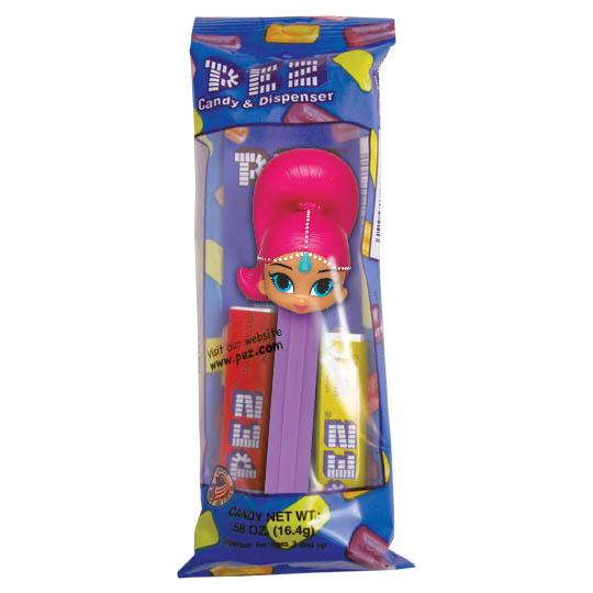 Pez Shimmer and Shine Dispenser with 2 Candy rolls -