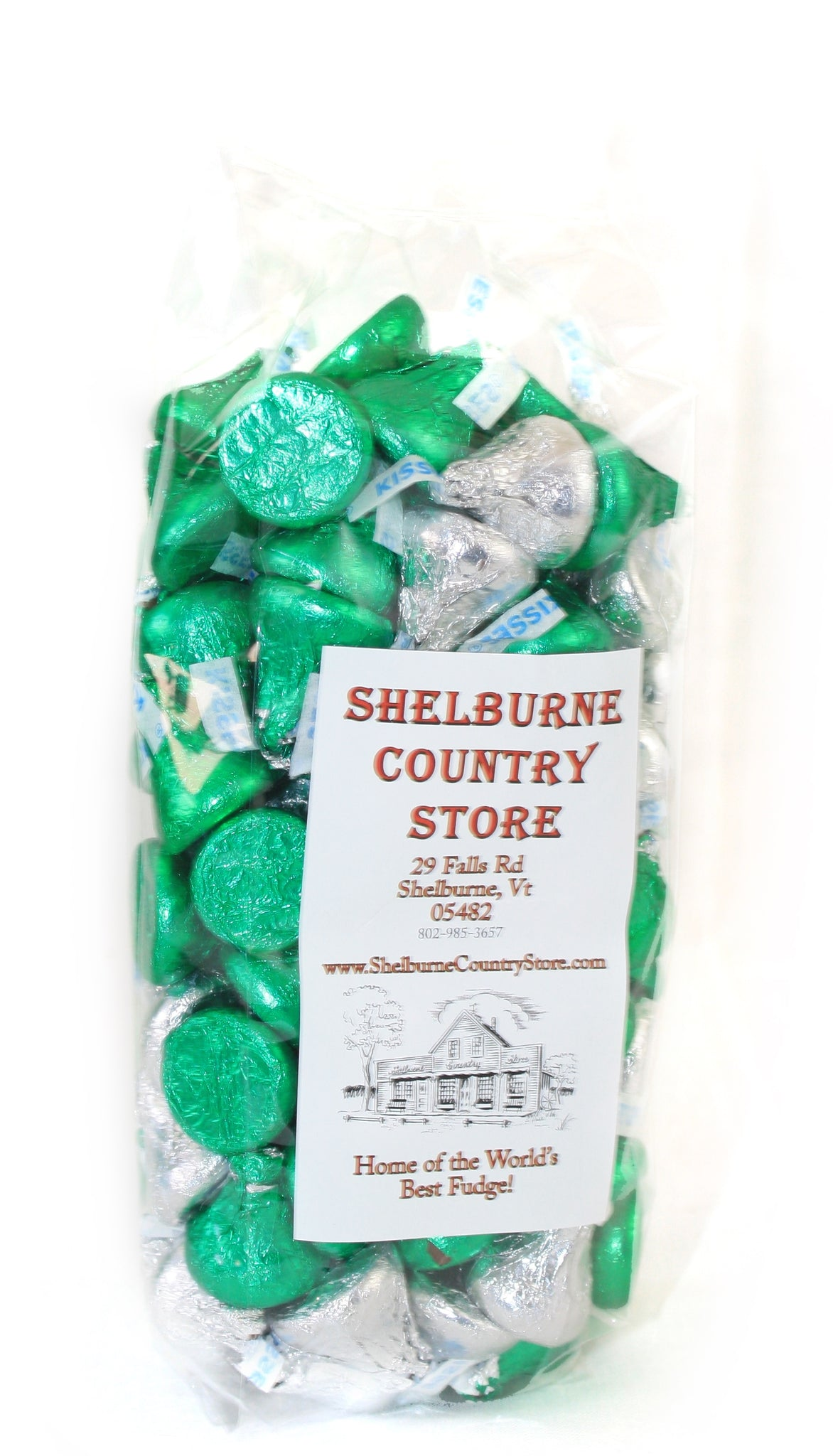 Hershey Kisses - St Pats Green and Silver - 1 Pound