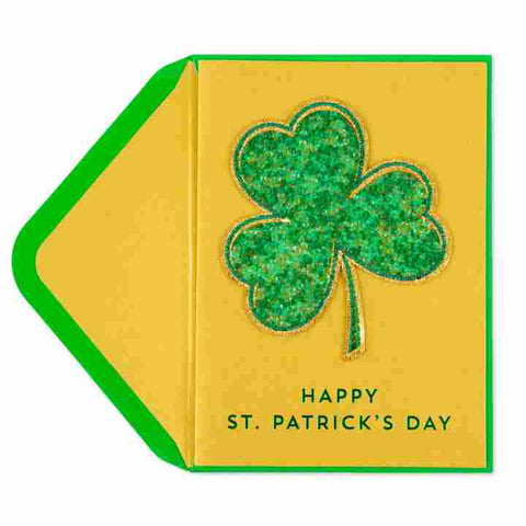 Gemmed Clover St Patricks Day Greeting Card