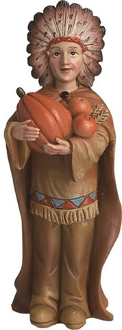 Resin Native American 4 inch Figurine -