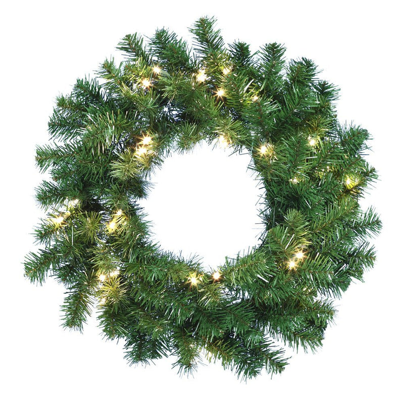 B/O Douglas Fir Wreath W/30 Lights