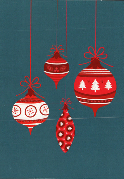 Four Ornaments Christmas Card
