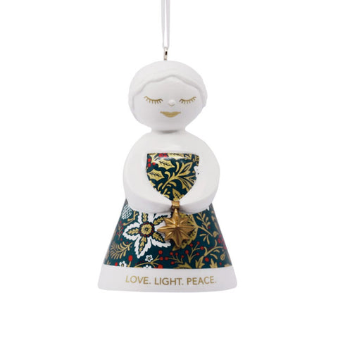 Love Light Peace Angel Ornament