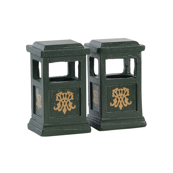 Green Trash Can, Set of 2