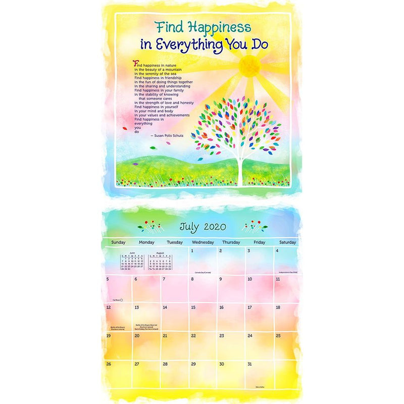 2020 Think Positive Thoughts Wall Calendar
