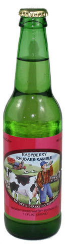 Vermont Sweetwater All Natural Glass Bottle Soda (Raspberry Rhubarb Ramble)