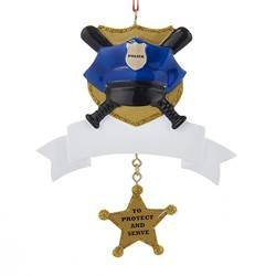 Resin Police Personalization Ornament