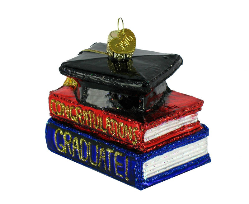 Congratulation Graduate Glass Ornament