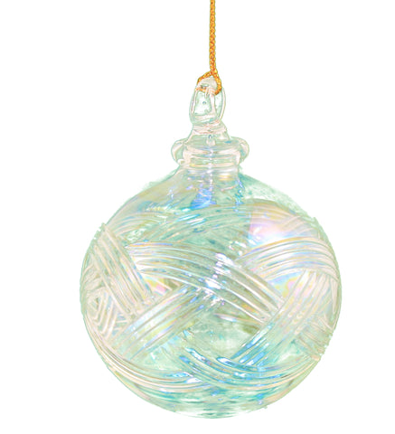 Clear Iris Crystal Ball Egyptian Glass Ornament