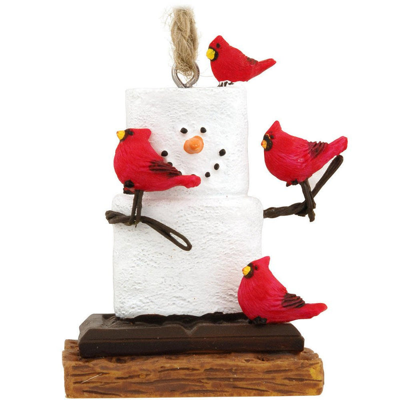 S'mores Cardinals Ornament