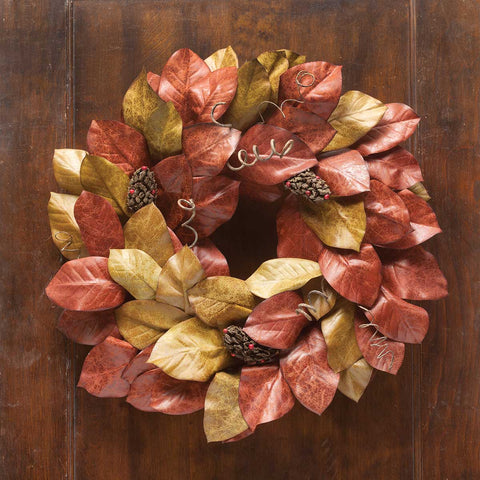 Burnished Magnolia Leaf Decor -