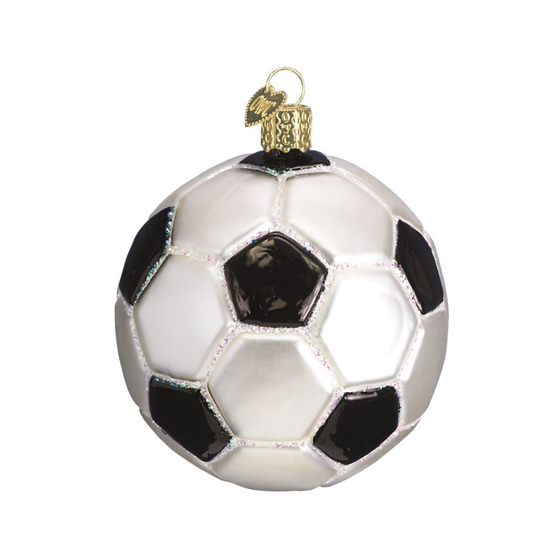 Old World Christmas Soccer Ball Glass Ornament
