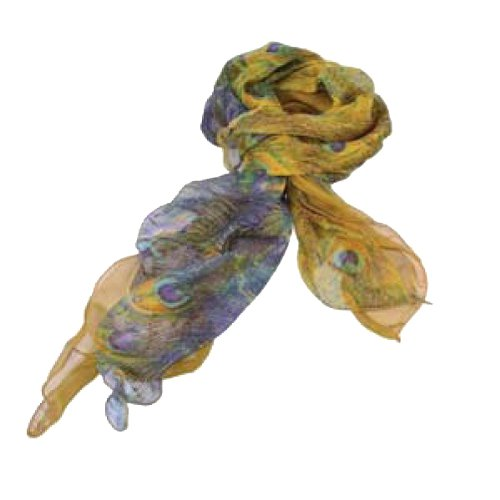 Yellow Peacock Frill Scarf