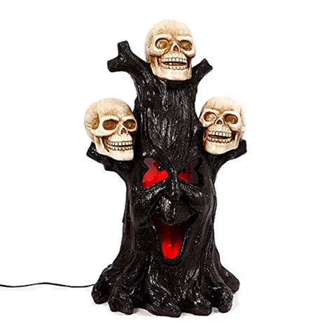 "27"" Electric Lighted Magnesium Haunted Tree"