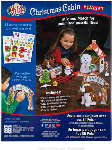 Elf on The Shelf Playset - Christmas Cabin