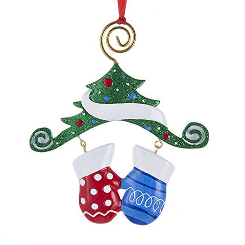 Dangling Mittens Family Ornament-