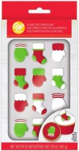 Wilton Mitten and Stocking Royal Icing Decorations