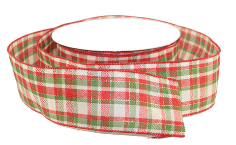 New Tartan Plaid Ribbon 2.5 inch - By the Yard