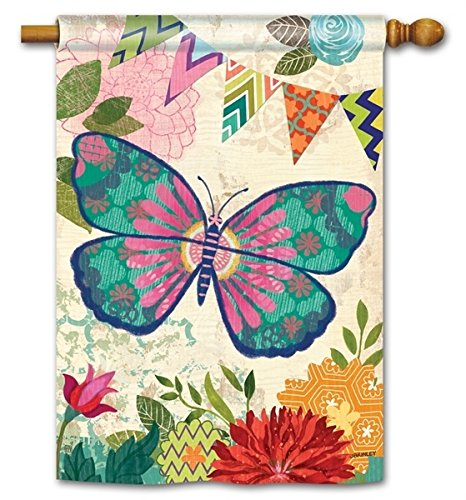 "Capistrano Butterfly House Flag - 28"" x 40"" - BreezeArt"