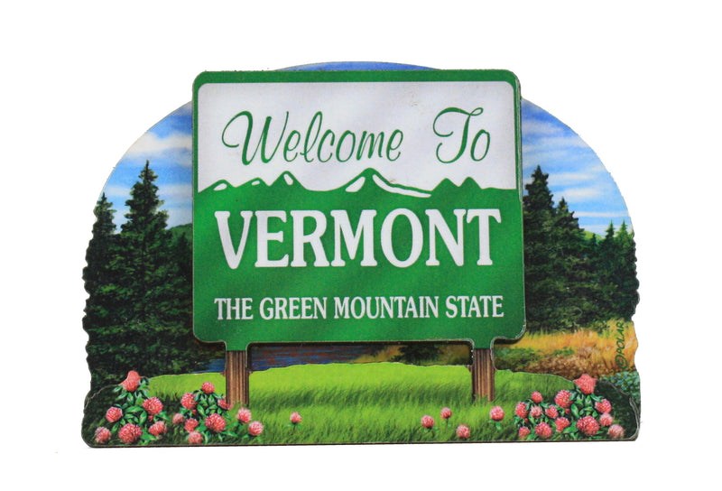 Vermont to Welcome Sign - Magnet