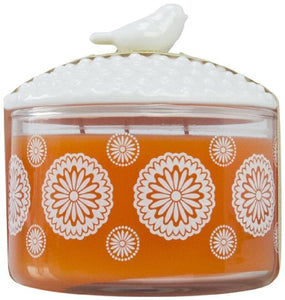 Manderin Coriander Poured Candle With Lid