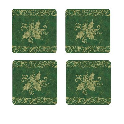 Ribbons Of Joy Green Coaster