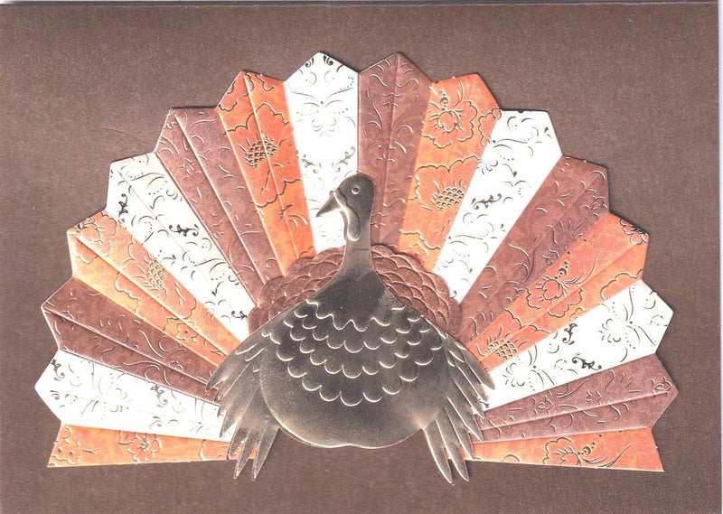Turkey With Pleated Tail Card - Thanksgiving