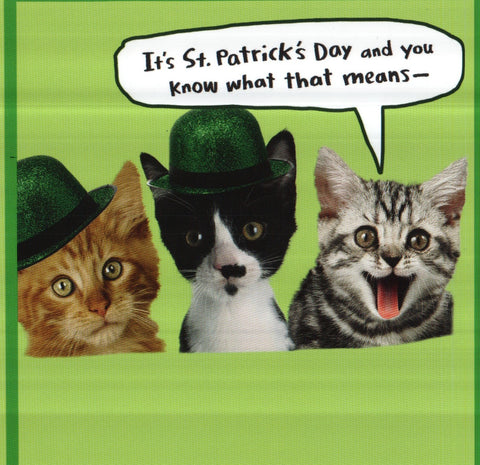 It's St. Patrick's Day Greeting Card