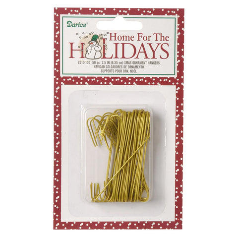 Wire Ornament Hangers - 2.5 inches - 50 pack -