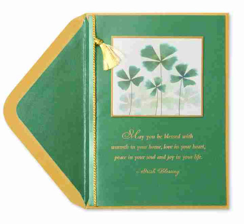 May you be blessed with.. St Patricks Day Greeting Card
