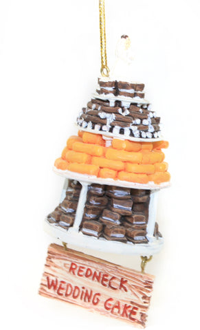 Redneck Wedding Cake Ornament