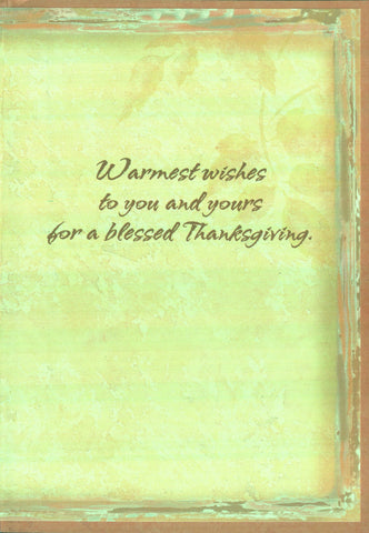 Thanksgiving Card - Abundant Blessings