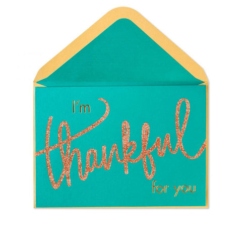 Thanksgiving Card - Thankful For You