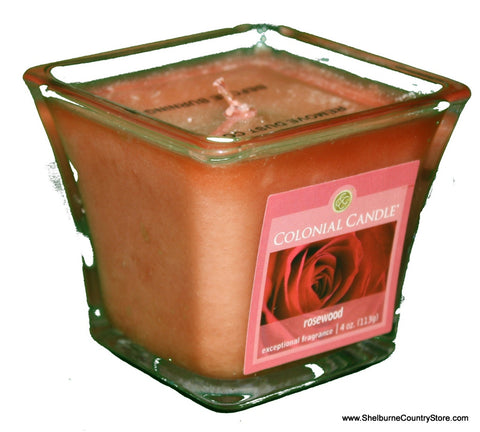 Flared Square Jar Candle -