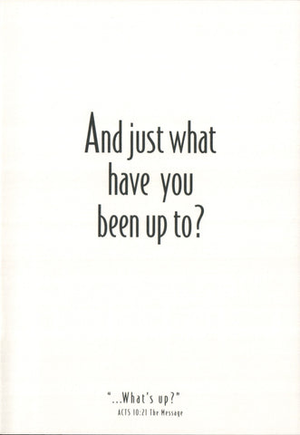 Greeting Card - What Have You Been Up To