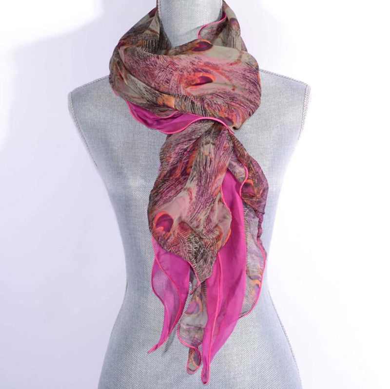 Rose Peacock Frill Scarf