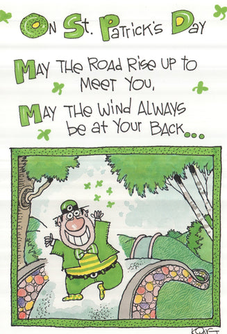 On St.Patrick's Day Greeting Card