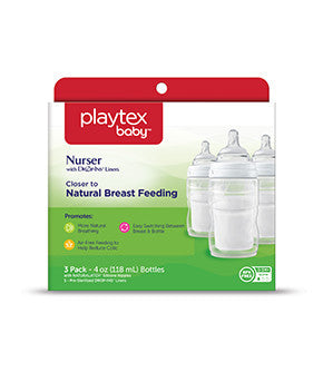 Playtex Nurser with Slow Flow Silicone Nipples - 3 Pack