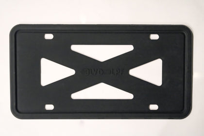 Black Silicon Slim Black License Plate Frame