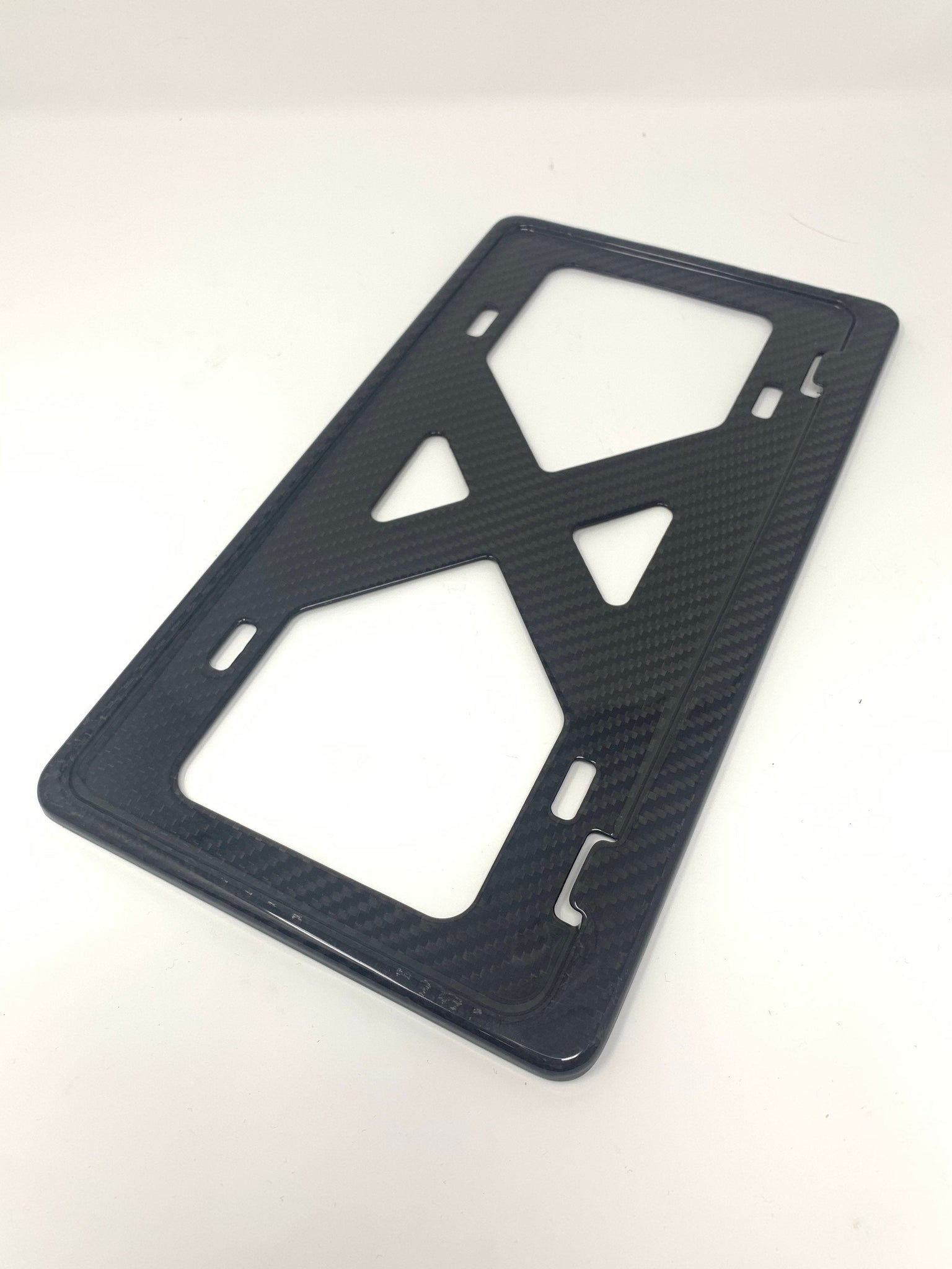 Universal Slim Carbon Fiber Frame for TESLA / Luxury / Fits EURO / Domestic / Bmw /Porsche / Boringmod