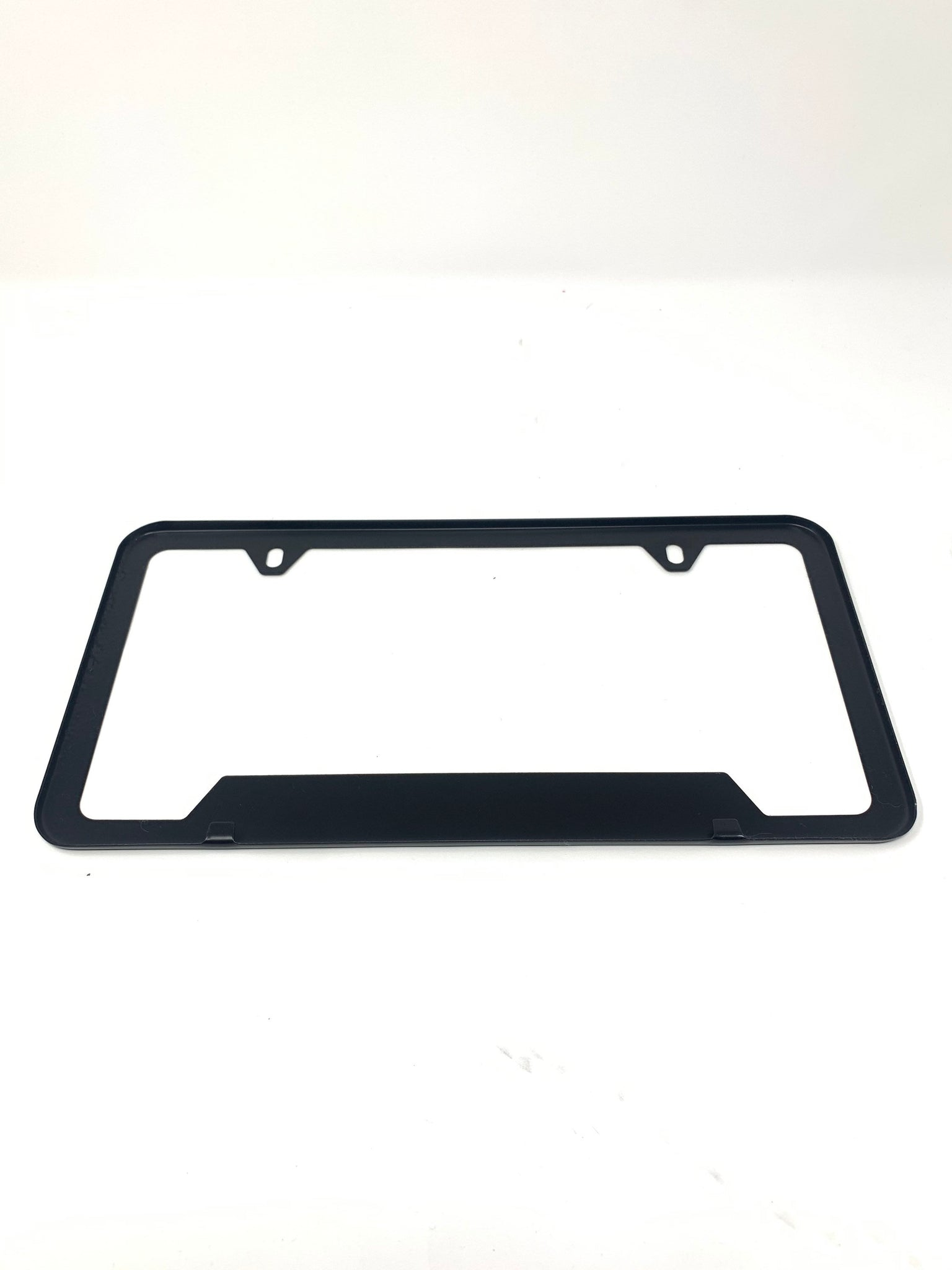 Black Universal Metal License Plate Frame, Satin, Chrome Delete, No Rust,  Warranty / Cali, Porsche, Bmw, Nissan, Ford, Satin, Cali