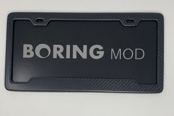 Carbon Fiber Matte  License Plate Frame / Screws Caps / 100% Carbon Fiber/ No stickers, Free Ship / Bmw / Porsche / Lexus Tesla
