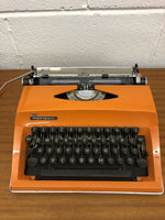1970s Orange Typewriter