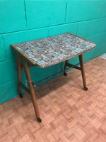 Formica topped 1960s TV trolley table