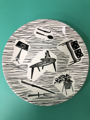 Homemaker Plate designed by Enid Seeney for Ridgeway Potteries