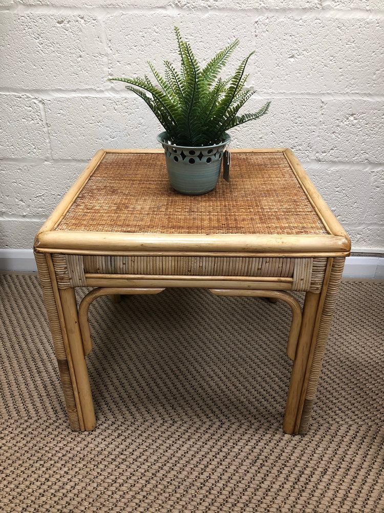 Large bamboo side table
