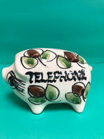 "Vintage 1960s Geoffrey Maund "" Telephone Money "" Piggy Bank"