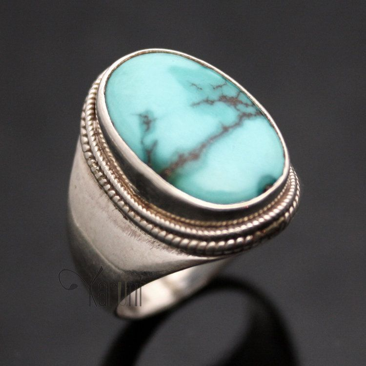 bague homme pierre turquoise